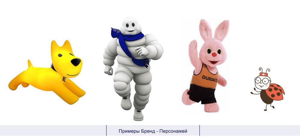 примеры бренд персонажей