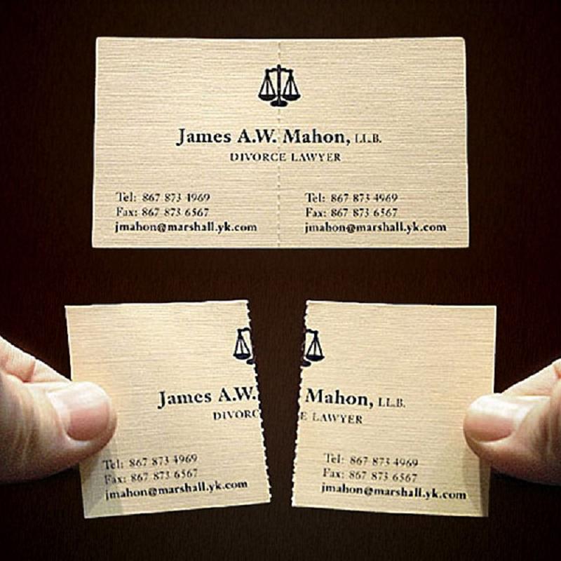 Оригинальная визитка адвоката